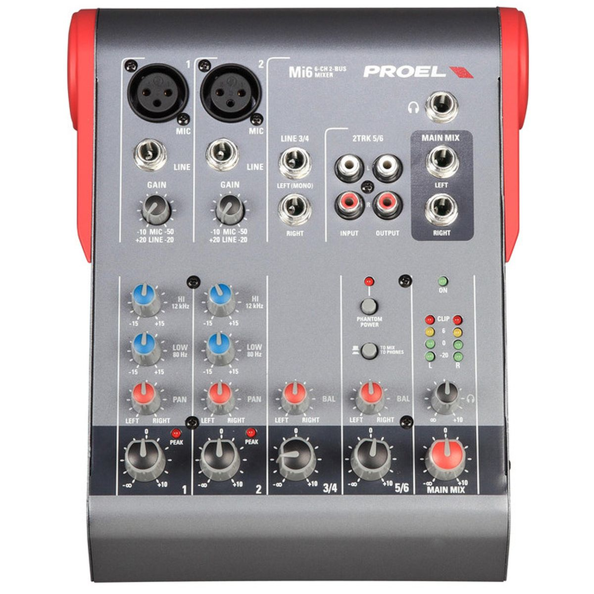 proel mi6 compact 6 channel 2 bus audio mixer astounded. Black Bedroom Furniture Sets. Home Design Ideas