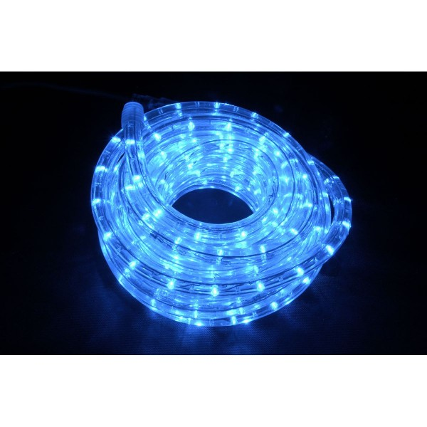 QTX IP44 Rated 10m LED Rope Light Set With Controller - Blue