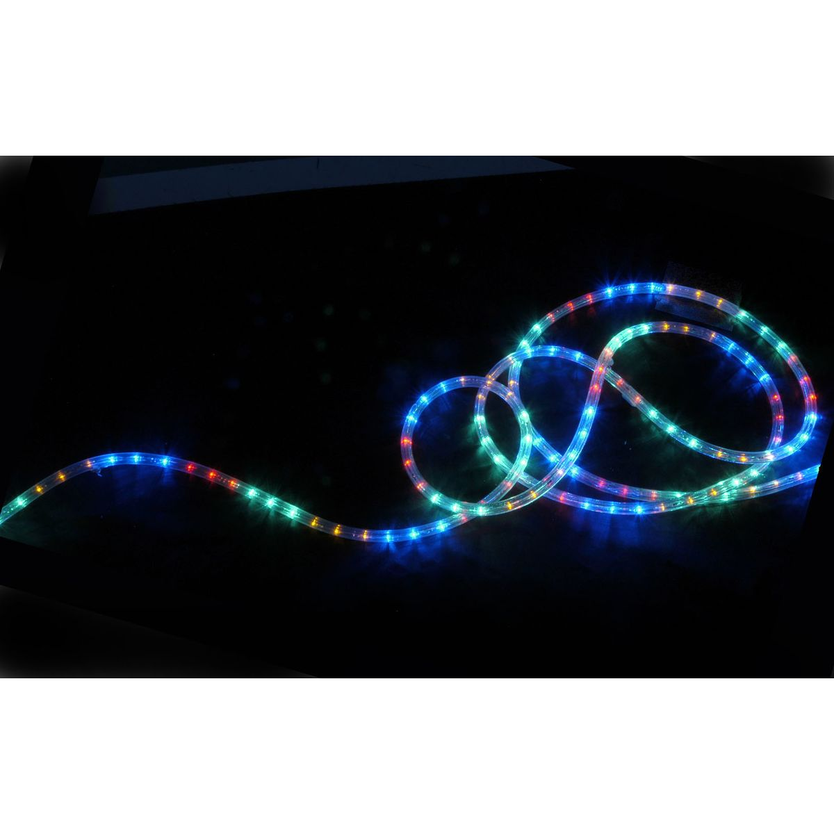 QTX IP44 Rated 10m LED Rope Light Set With Controller - Multicol Astounded