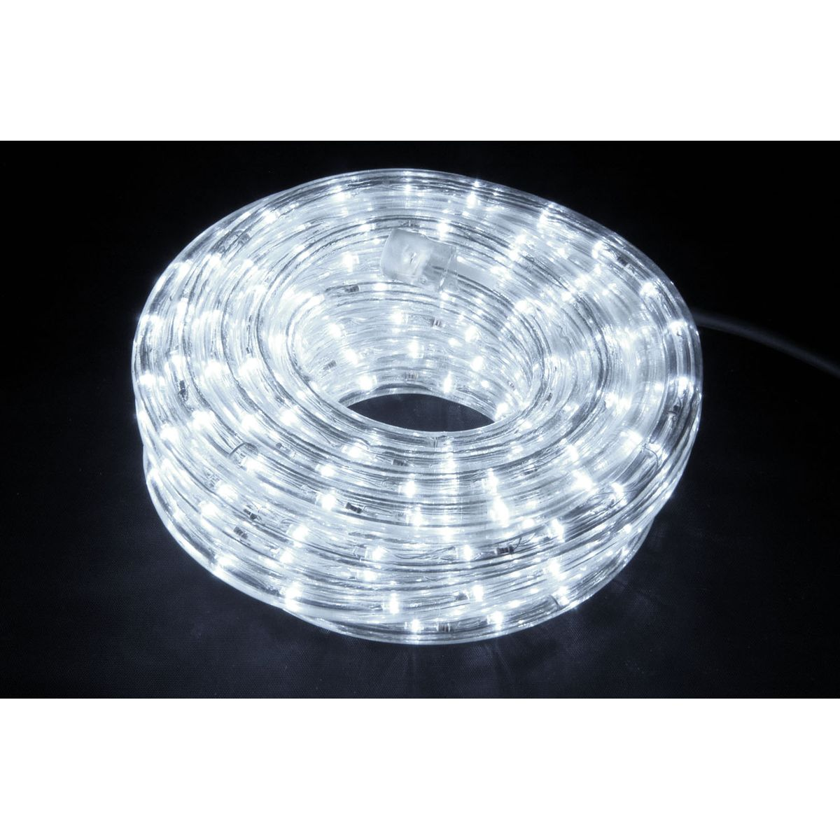 Best Rated Shop Lights: QTX IP44 Rated LED Rope Light - 50m Reel - White