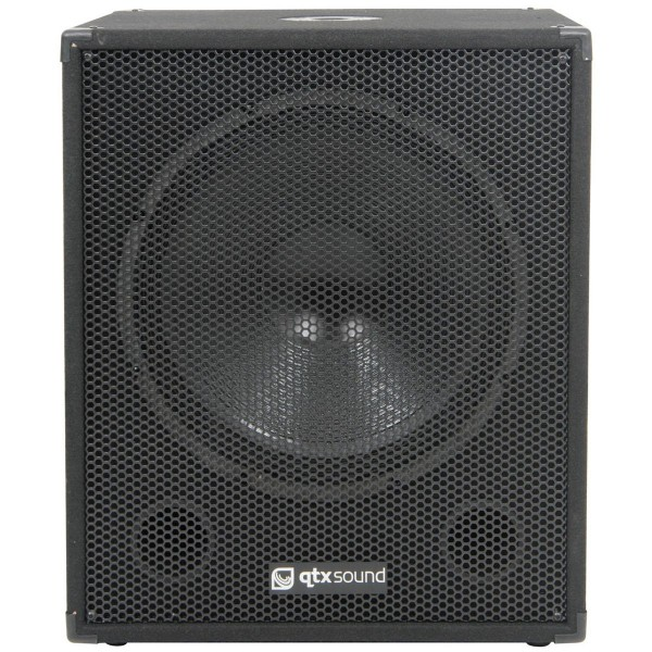 "QTX QT15SA 15"" 600W Active Powered Sub Woofer / Bass Bin Speaker"