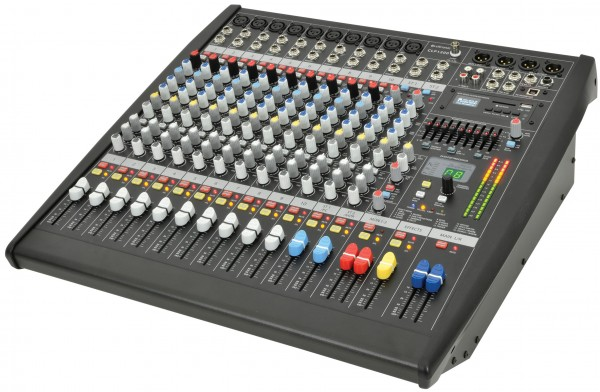 Citronic CLP1200 12 Channel Powered Mixer - 2 x 600W