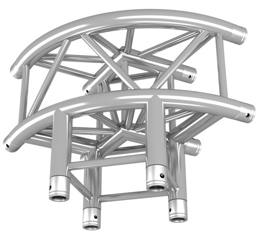 Duratruss DT 34 Quad Truss C30R-L90 90 Degree Top Curved Corner