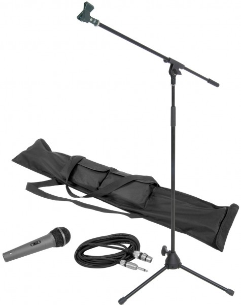 QTX Complete Dynamic Vocal Microphone & Stand Package