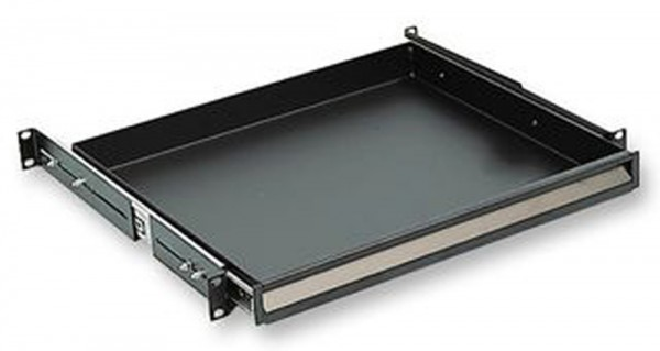 "19"" 1U Deep Sliding Rack Tray"