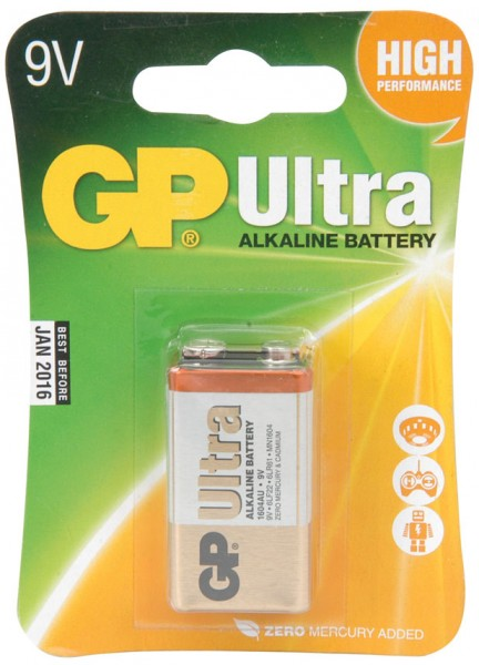 PP3, 9V, Packed 1/Blister Ultra Alkaline Batteries
