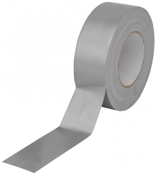 Premium Waterproof Cloth Gaffer Tape - Silver - 50m Roll