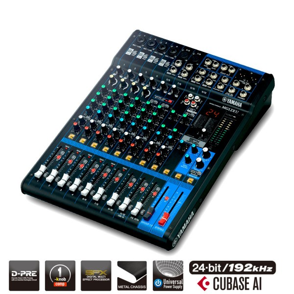 Yamaha MG12XU 12 Channel USB Mixing Desk With Effects