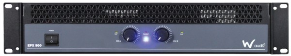 W Audio EPX 500 500W Stereo Power Amplifier