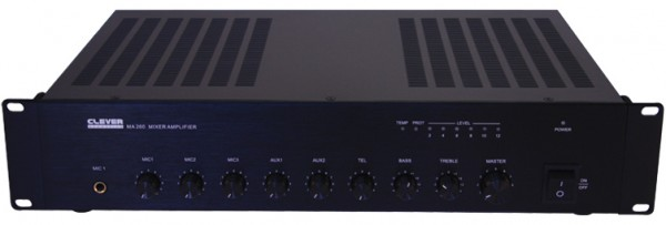 Clever Acoustics MA260 100V Line 60W Mixer PA Amplifier