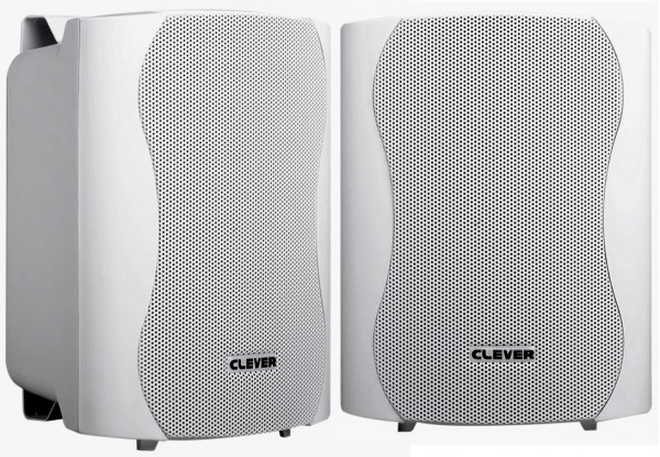 Clever Acoustics WPS25T White 100V Weatherproof Speakers - Pair
