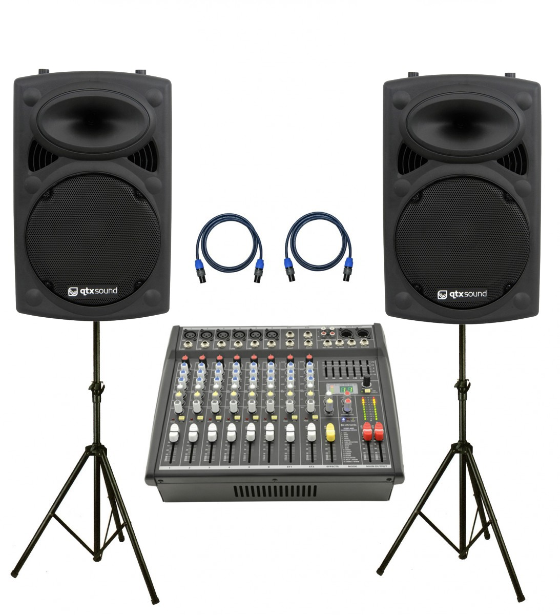 Citronic 800W, 10 Channel PA System with 12″ Passive Speakers