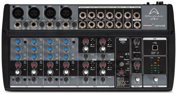 Wharfedale Pro Connect 1202FX Compact USB Audio Mixer