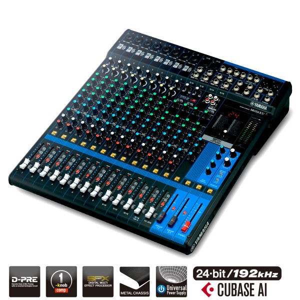 Yamaha MG16XU 16 Channel USB Mixing Desk With Effects