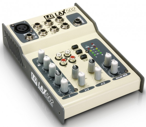 LD Systems LAX Series LAX502 Compact Mixer - 5 Channel