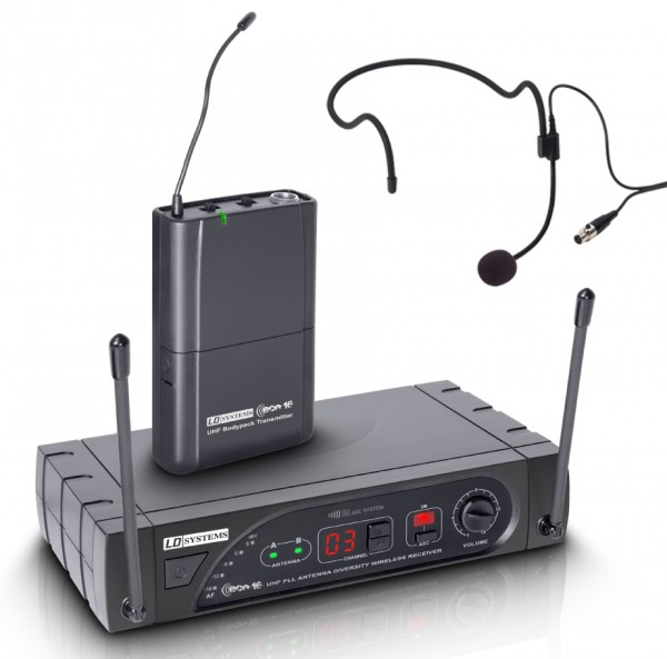 LD Systems ECO 16 Wireless Headset UHF Microphone System