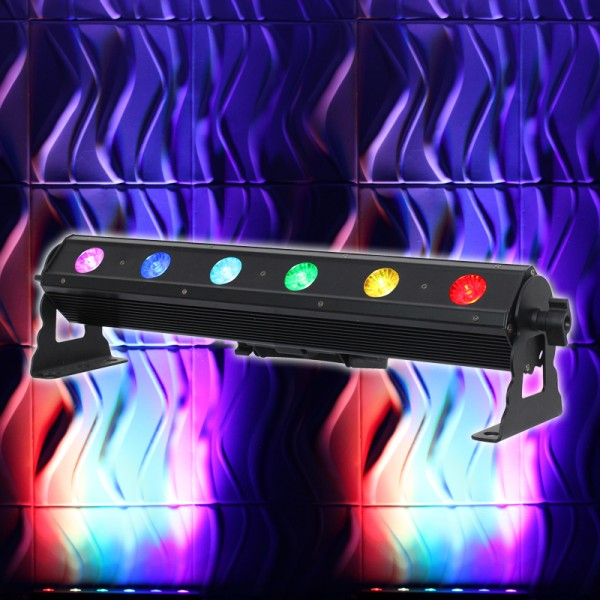 LEDJ Pixel Storm 6 Tri Batten 6 x 3W Tri LED Wash Bar