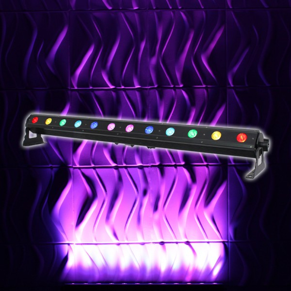 LEDJ Pixel Storm 12 Tri Batten 12 x 3W Tri LED Wash Bar