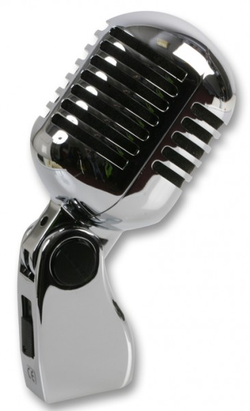 Pulse Chrome 50s Elvis Style Dynamic Vocal Microphone