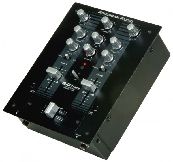 American Audio QD1-MKII 2-Channel DJ Mixer with Crossfader