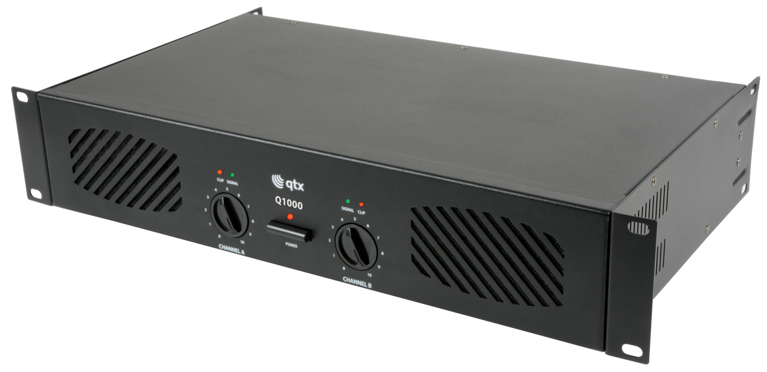 qtx q1000 stereo pa power amplifier 2 x 500w astounded. Black Bedroom Furniture Sets. Home Design Ideas