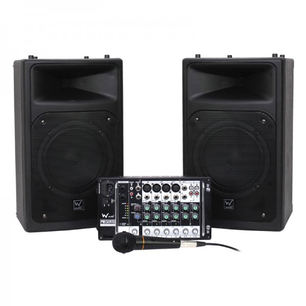 W Audio Presenter 320W, 6 Channel Portable PA System
