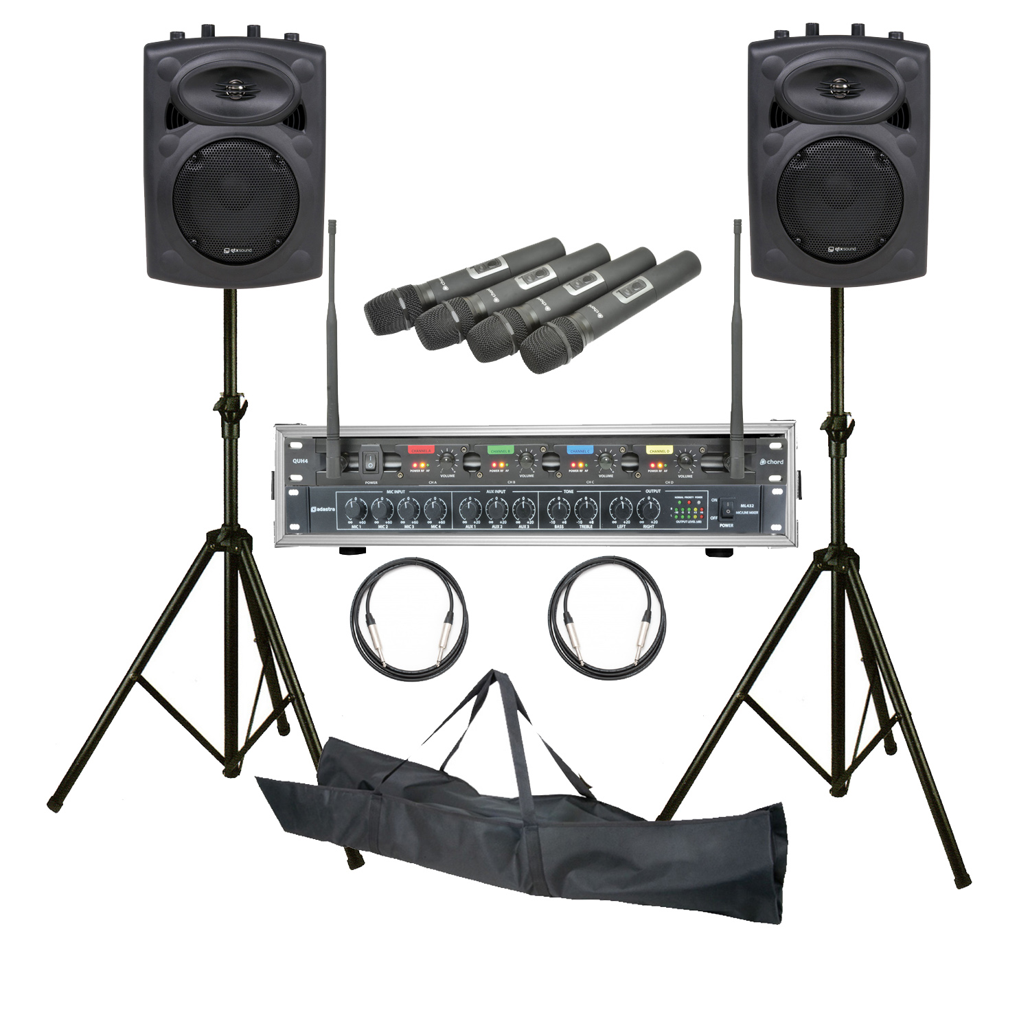 astounded mobile conference 2 speaker pa system with twin wireless microphones package 3. Black Bedroom Furniture Sets. Home Design Ideas