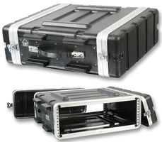 "Pro Heavy Duty ABS 19"" Rack 3U Flight Case"