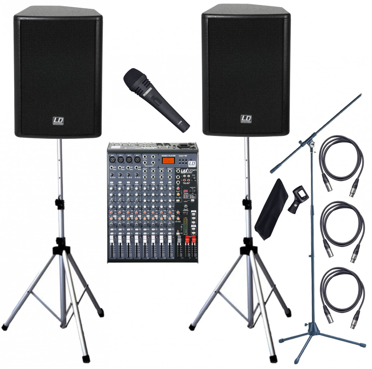 LD Systems Stinger 900W Active Vocalist PA System With MP3 1