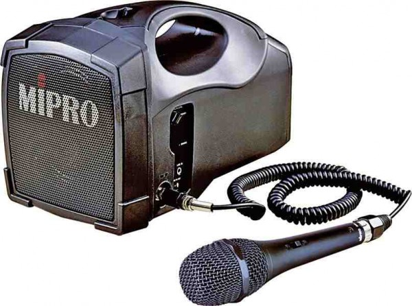 MiPro MA-101C 30W Portable PA System With Battery & Wired Mic