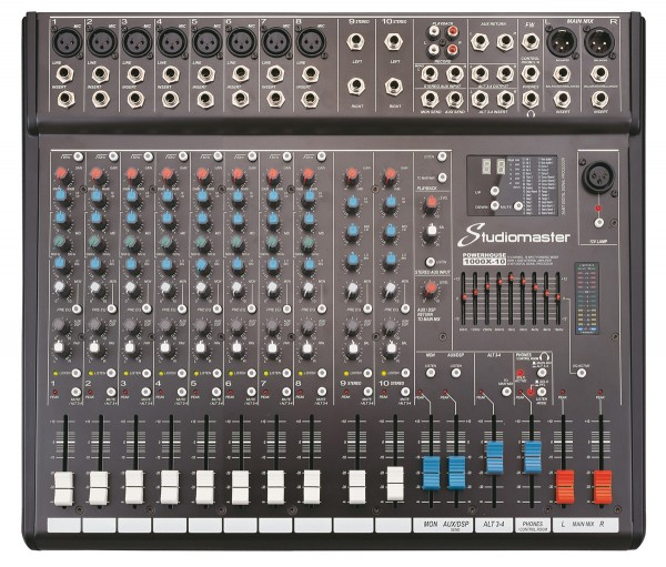 Studiomaster Powerhouse 1000X-10 10 Channel, 1000W Powered Mixer