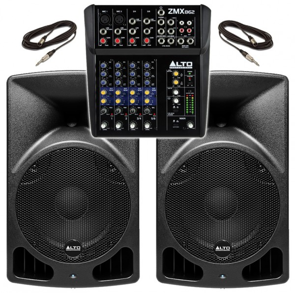 """Alto TX10 560W, 6 Channel PA System with 10"""" Active Speakers"""